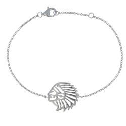 Bracelet Argent Tête Indien