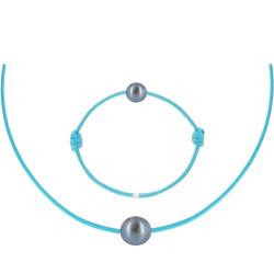 Set Collier et Bracelet Lien La Perle Noire des Poulettes - Colors