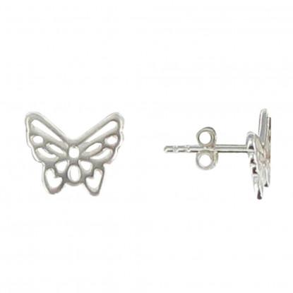 Boucles d'Oreilles Papillon Ajouré en Argent