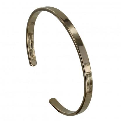Bracelet Plaqué Or Demi Jonc Plat