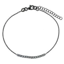Bracelet Ruthénium et Strass