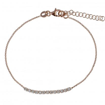 Bracelet Plaqué Or Rose et Strass