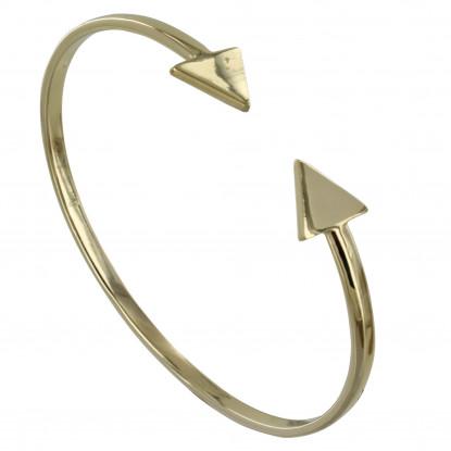 Bracelet Plaqué Or Jonc Double Flèche