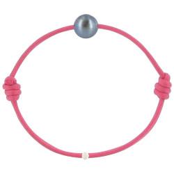 Bracelet La Perle de Culture Noire des Poulettes - Colors