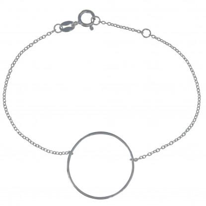 Bracelet Argent Grand Cercle Fin