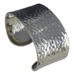 Bracelet Argent Plat Martelé