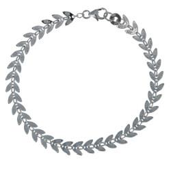 Bracelet Argent Rhodié Laurier