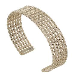 Bracelet Plaqué Or Demi Jonc de Chaines
