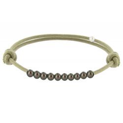 Bracelet Lien Numéro 10 Perle Noire des Poulettes - Classics
