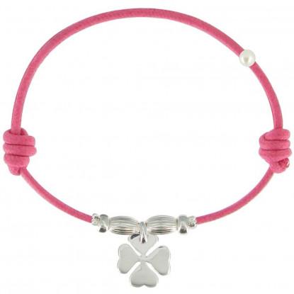 Bracelet Lien Trèfle Argent - Colors