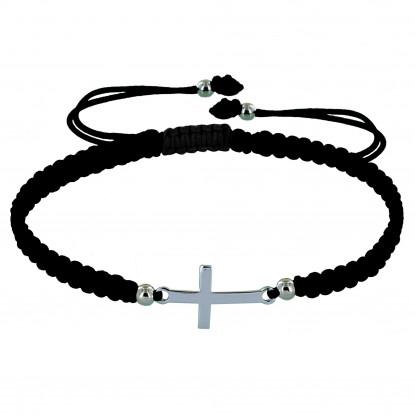 Bracelet Argent Croix Lien Tréssé - Classics