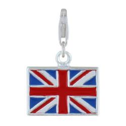 Charms Argent Drapeau du Royaume-Uni