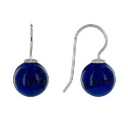 Boucles d'Oreilles Argent Billes de Lapis Lazuli