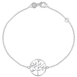Bracelet Argent Rhodié Arbre de Vie