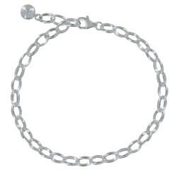 Bracelet Gourmette et Attache Charms Argent 925 - Classics