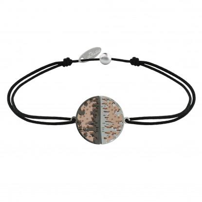 Bracelet Lien Médaille Argent Plaqué Or Rose Ruthénium New York