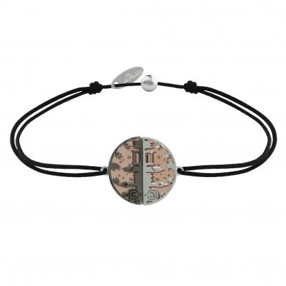 Bracelet Lien Médaille Argent Plaqué Or Rose Ruthénium Londres