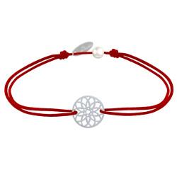 Bracelet Lien Médaille Argent Mandala Graine de Vie