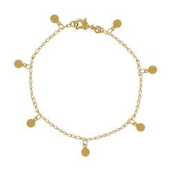 Bracelet Plaqué Or Petites Breloques Rondes