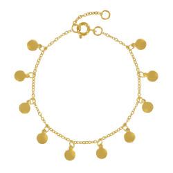 Bracelet Plaqué Or Breloques Rondes