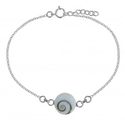 Bracelet Argent Oeil de Sainte Lucie Rond- Grand Modèle