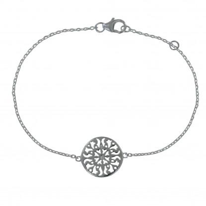 Bracelet Argent Arabesque Ronde