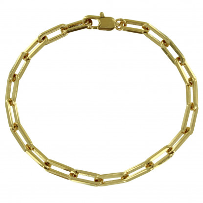 Bracelet Plaqué Or Mailles Ovales