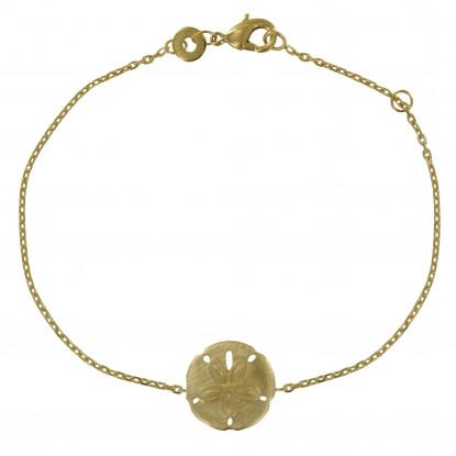 Bracelet Plaqué Or Dollar des Sables Rond