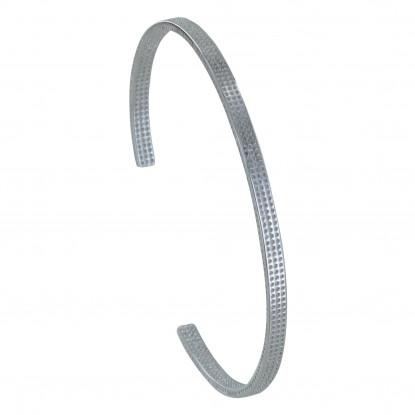 Bracelet Argent Demi Jonc Pointillés
