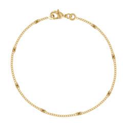 Bracelet Plaqué Or Huit Médailles Soleil