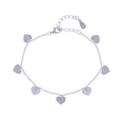 Bracelet Argent Sept Coeurs