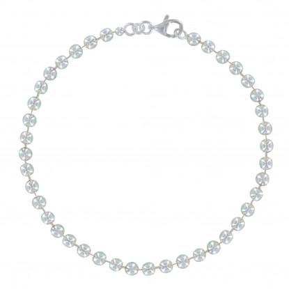 Bracelet Argent Moyennes Perles