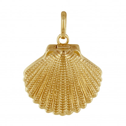 Pendentif Plaqué Or Coquille St Jacques