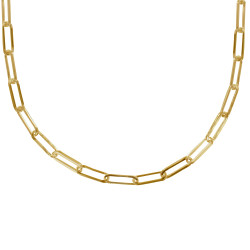 Collier Plaqué Or Mailles Cheval