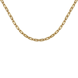 Collier Plaqué Or Mailles Rectangles