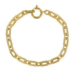 Bracelet Plaqué Or Gourmette Mailles Rectangles
