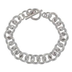 Bracelet Argent Grosse Gourmette Mailles Rondes Fermoir T