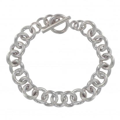Bracelet Argent Grosse Gourmette Maille Ronde