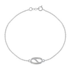 Bracelet Argent Anneau Marin Ovale