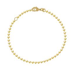 Bracelet Plaqué Or Perles 2,5mm