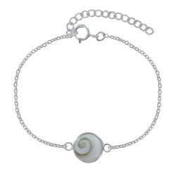 Bracelet Argent Oeil de Sainte Lucie Rond - Moyen Modèle