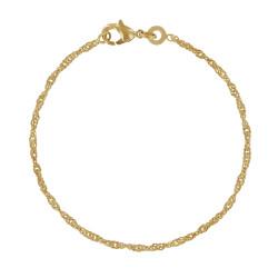 Bracelet Plaqué Or Maille Singapour 2mm