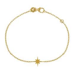 Bracelet Plaqué Or Etoile Polaire