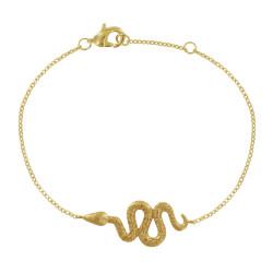 Bracelet Plaqué Or Long Serpent