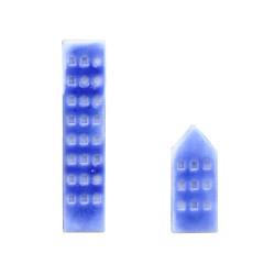 Boucles d'Oreilles Argent Maisons en Porcelaine