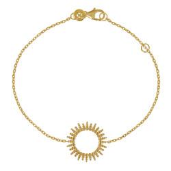 Bracelet Plaqué Or Soleil de Billes Ajouré