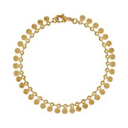 Bracelet Plaqué Or Médailles Soleil