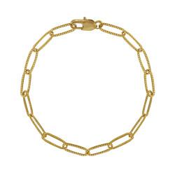 Bracelet Plaqué Or Mailles Cheval Texturées