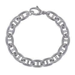 Bracelet Argent Rhodié Maillons Marin