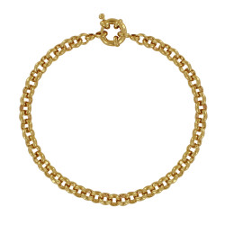 Bracelet Plaqué Or Mailles Jaseron